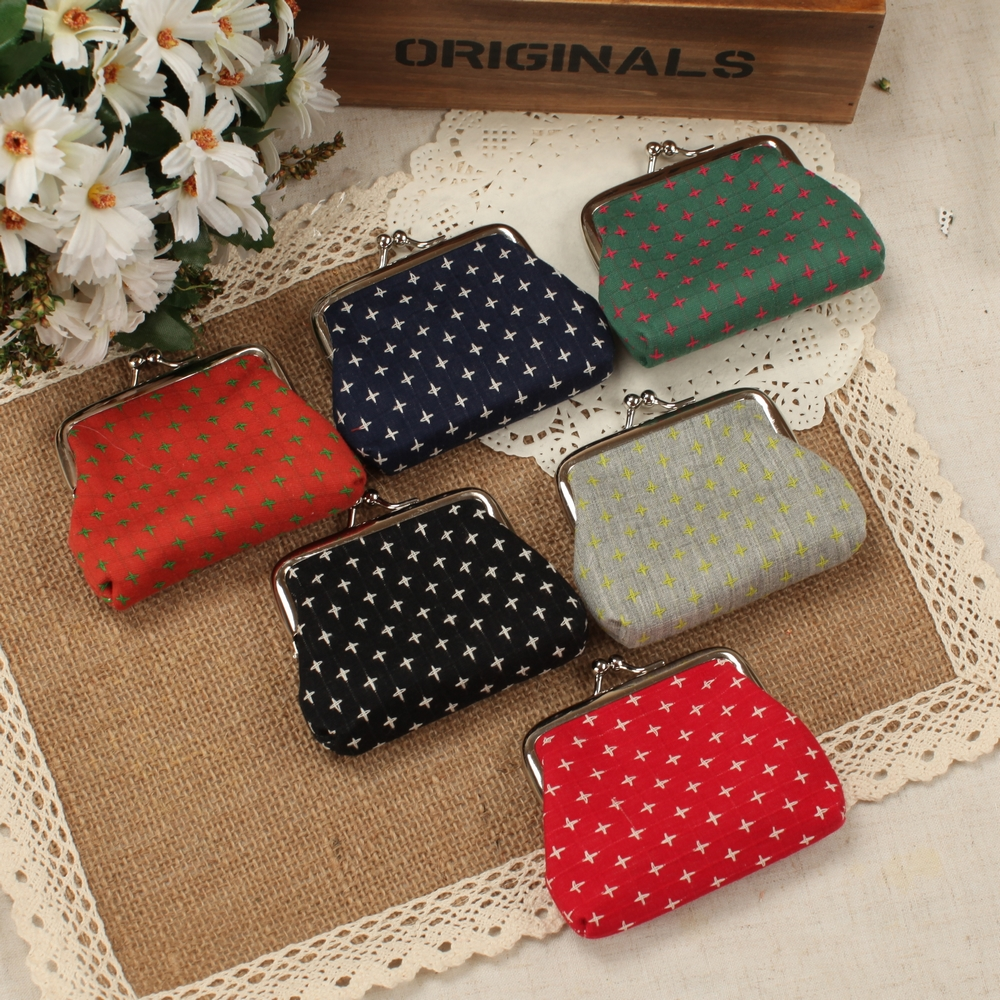 Coin purse Clearance!Women change purse,lady zero wallet,Female hasp key bag,Pouch Cotton Fabric mini bags стоимость