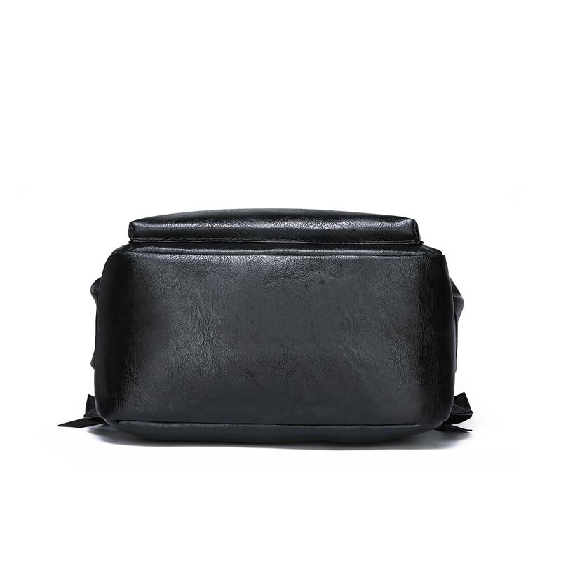 PURANI Men Leather Backpacks for Teenager Men bookbags Fashion Waterproof Laptop Backpack Daypacks Mochila Male School Backpack in Backpacks from Luggage Bags