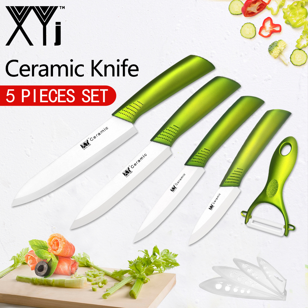 XYj Kitchen Knives Chef Ceramic Knife 3 4 5 6 inch Ceramic Paring Fruit Veg Meat Sushi Fish Sashim Kitchen Cooking Knife