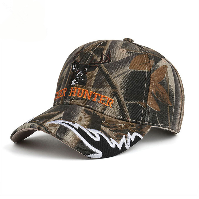 New arrival browning elk camouflage caps for men outdoor for Camo fishing hat
