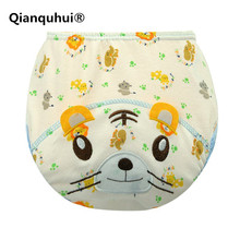 Фотография Qianquhui Three layers Washable Breathable No Fluorescent Agent Diapers For Newborns Learning Pants 100% Cotton Reusable Nappies