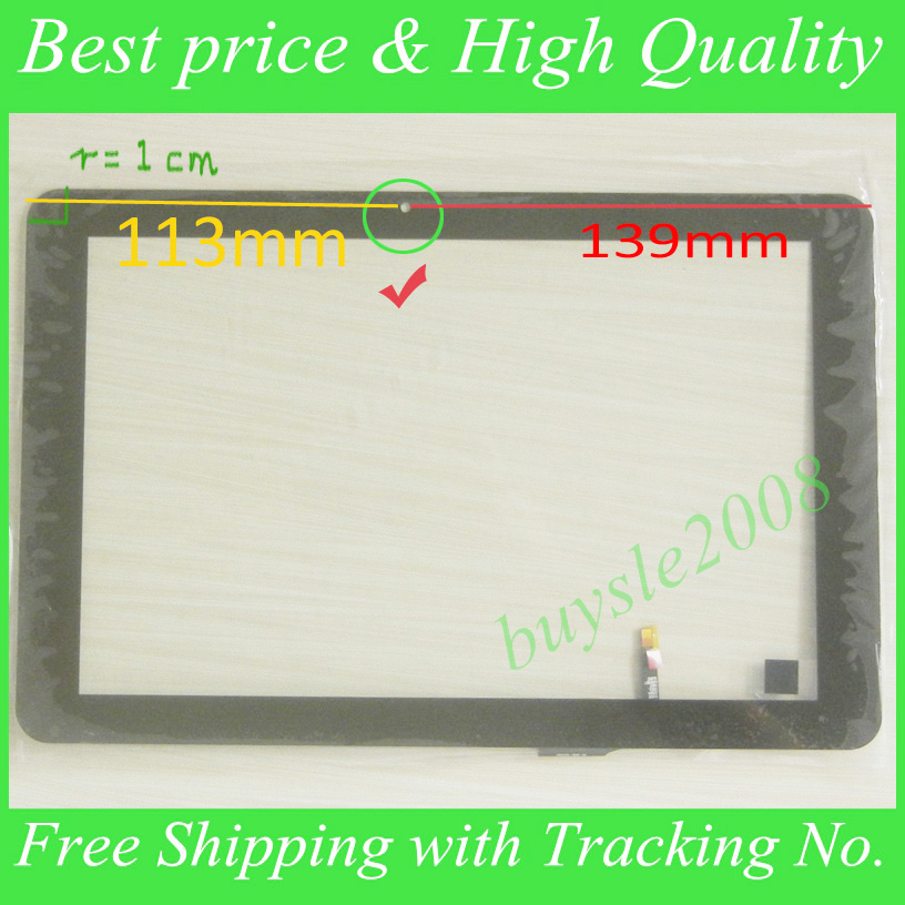 Black New For 10.1'' Tesla Impulse 10.1 M0401Q tablet pc Touch Screen digitizer touch panel,the camera hole on the left