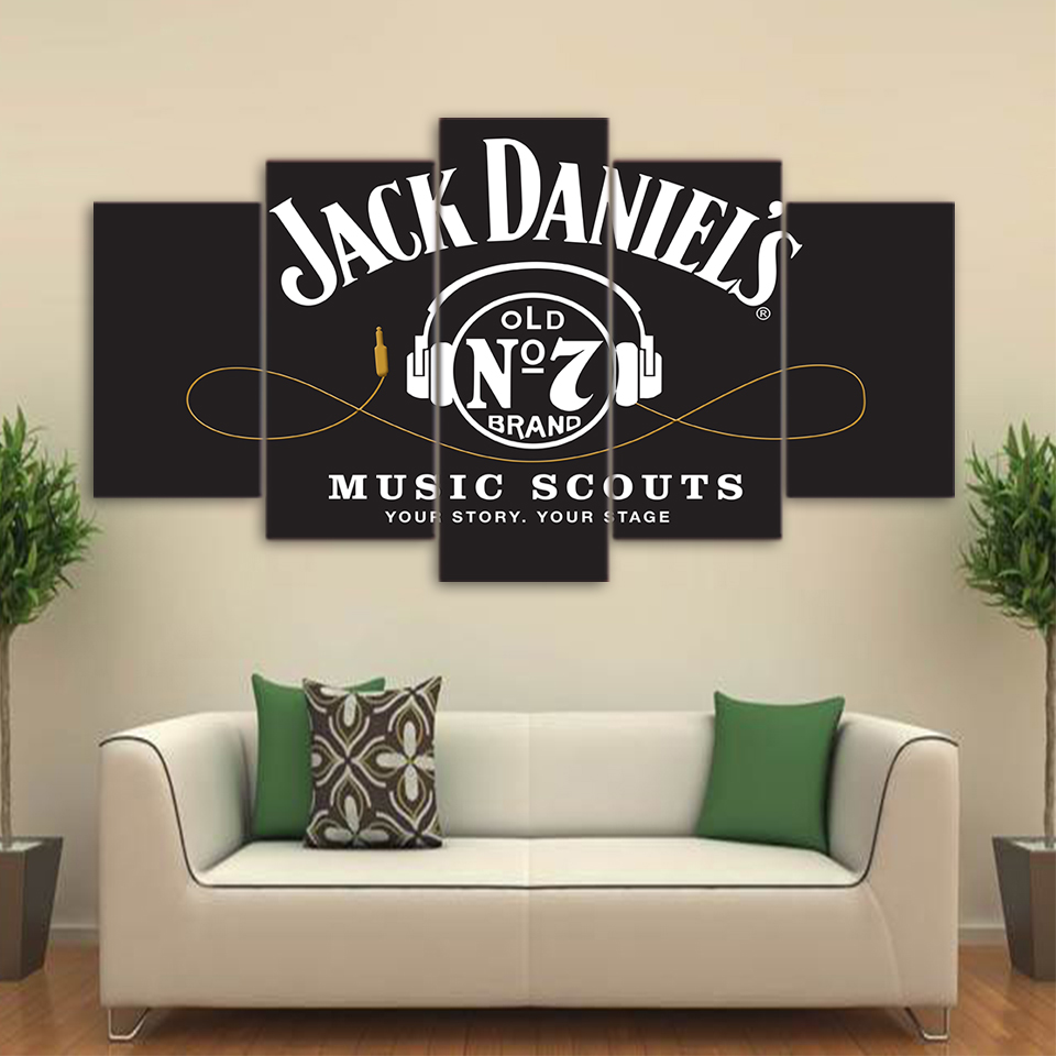 5 piece canvas wall art hd printed jack daniels drink painting 5 piece canvas wall art hd printed jack daniels drink painting frame headset poster grey canvas print wall art abstract picture in painting calligraphy amipublicfo Gallery