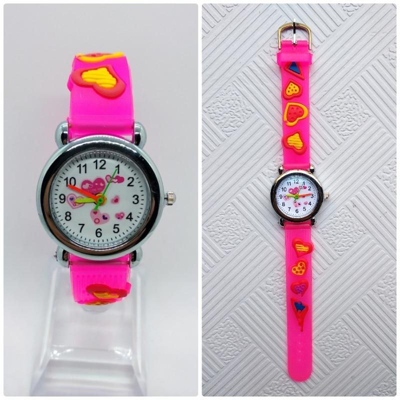 Low Price Children Watch 4 Colors Love Dial Kids Watches Boys Girls Waterproof Hands Gift Clock Reloj De Cuarzo Free Shipping