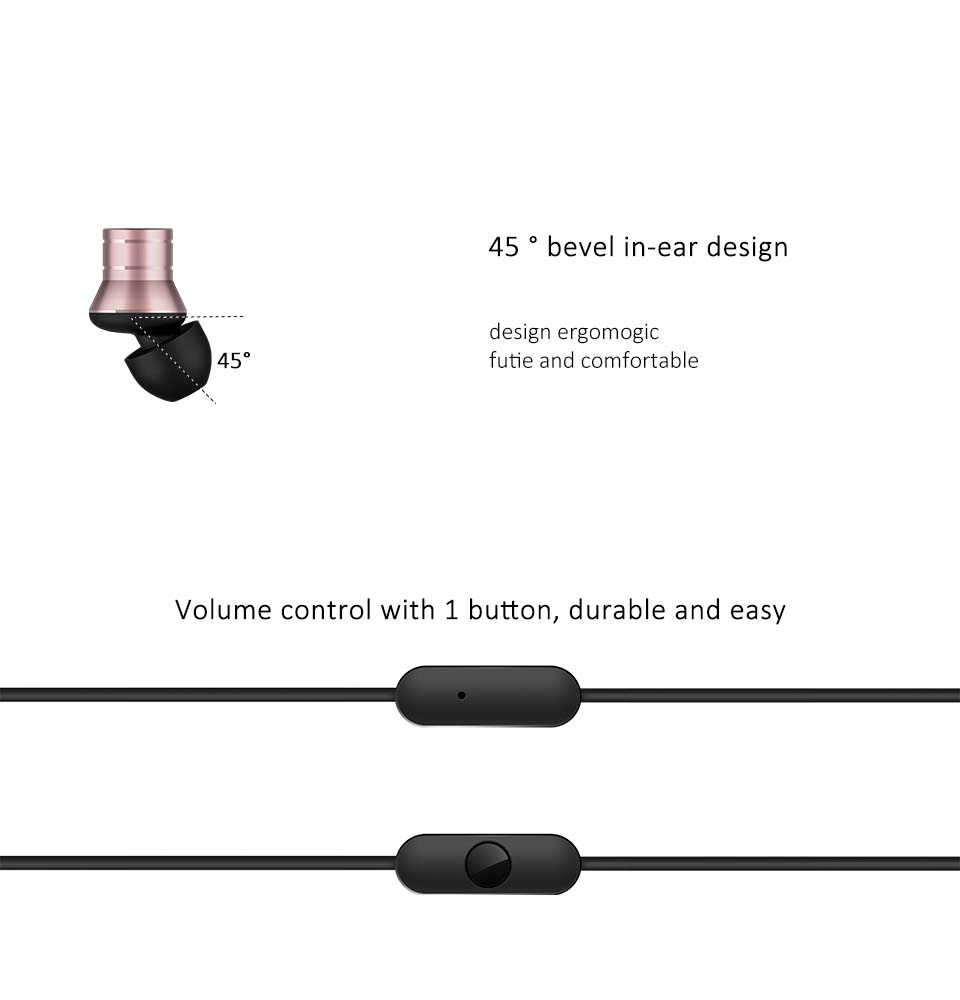 1more Piston Fit In Ear Earphone Aluminium Alloy Kevlar Fiber Volume Control With 1 Button Durable And Easy