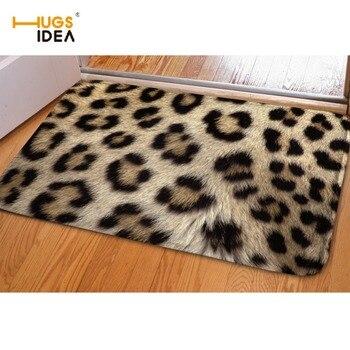 HUGSIDEA-alfombra de suelo con diseño de leopardo 3D, Alfombras de estilo europeo...