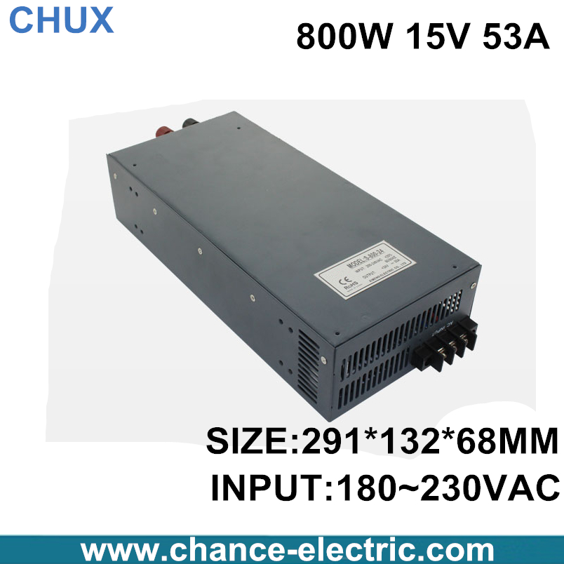 800W switching power supply 15V 53A 800W 110 or 220VAC single output input  for cnc cctv led light(S-800W-15V) switching power supply 15v 66a 1000w 110 220vac single output input for cnc cctv led light s 1000w 15v