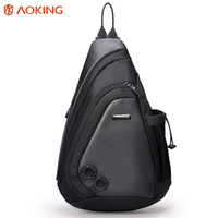 Aoking 2017 New Fashion Water Shape Chest Bag Men Large Capacity Sling Bag With Buckle Decoration
