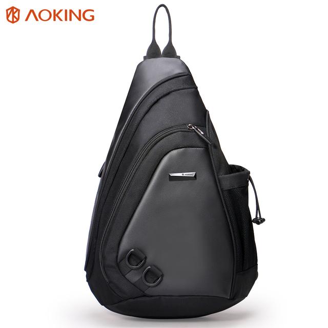 Aoking 2017 New Fashion Water Shape Chest Bag Large Capacity Men Sling bag Waterproof Travel Daily Crossbody Bag Shoulder Bag