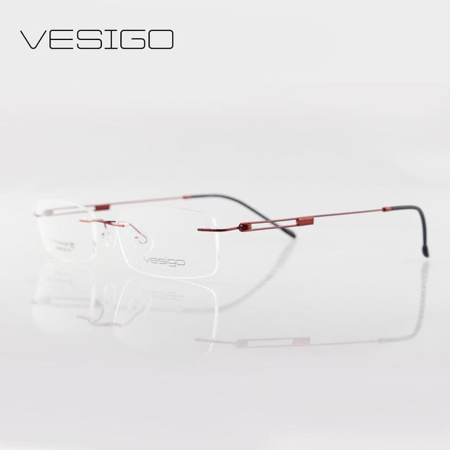 Сверхлегкий без оправы очки кадр бренд beta titanium очки рамки близорукость оптические óculos де грау 62006
