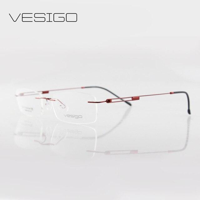 a6ce9bc38ce3e Ultra-leve sem aro óculos de armação marca beta titanium óculos frames  miopia óptico oculos