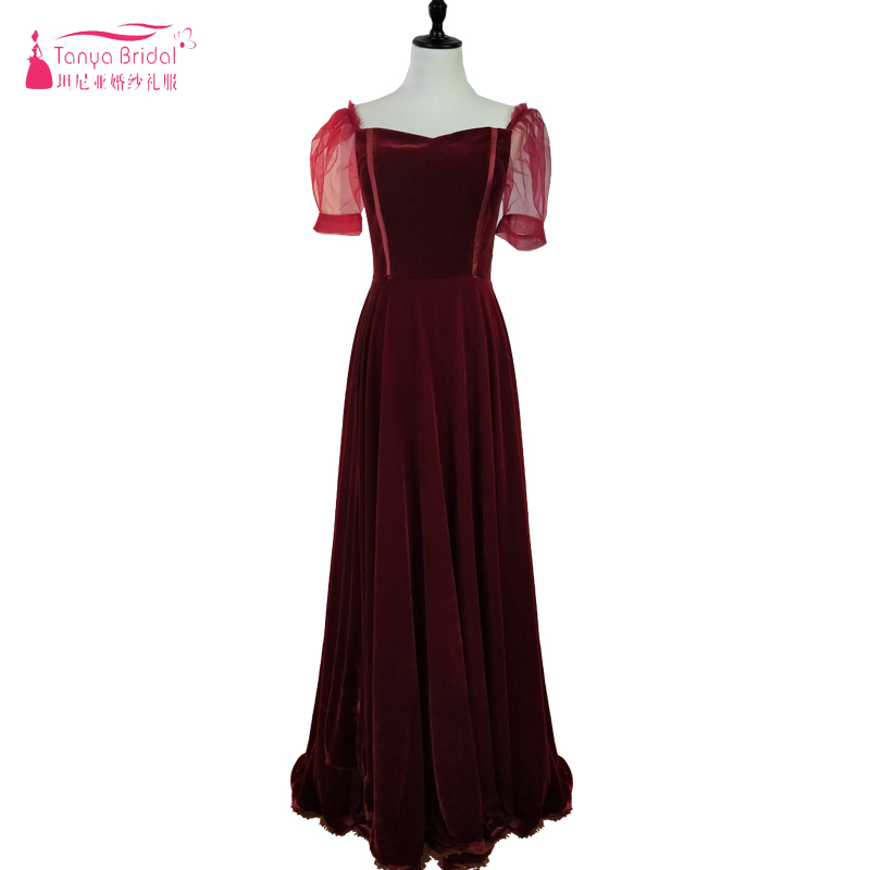 Ingenious Burgundy A Line Evening Dresses 2018 Velour Elegant Sweetheart Simple Long Prom Dresses Lace Up Special Occasion Gowns Ze015-20 Weddings & Events