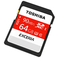 TOSHIBA Memory card 90MB/s 64GB SDHC Card UHS U3 SD Card Class10 Flash Memory Card For Canon Nikon SLR Camera 4K Video DV
