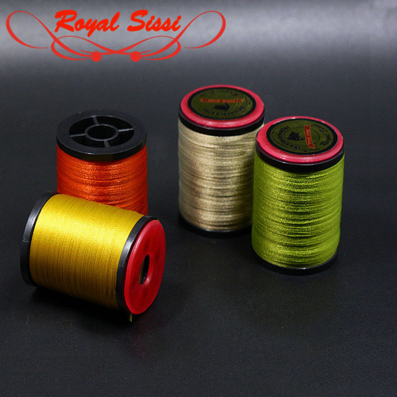 Hot 2 spools 6/0 fly tying thread 16optional colors lightly waxed polyester filaments thread with standard bobbin dry fly thread