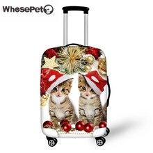 Großhandel Nette Katze Reisegepäck Abdeckung Weihnachten Dicke Schutz Koffer Abdeckt Elastische anti-staub Trolley Weihnachten WHOSEPET