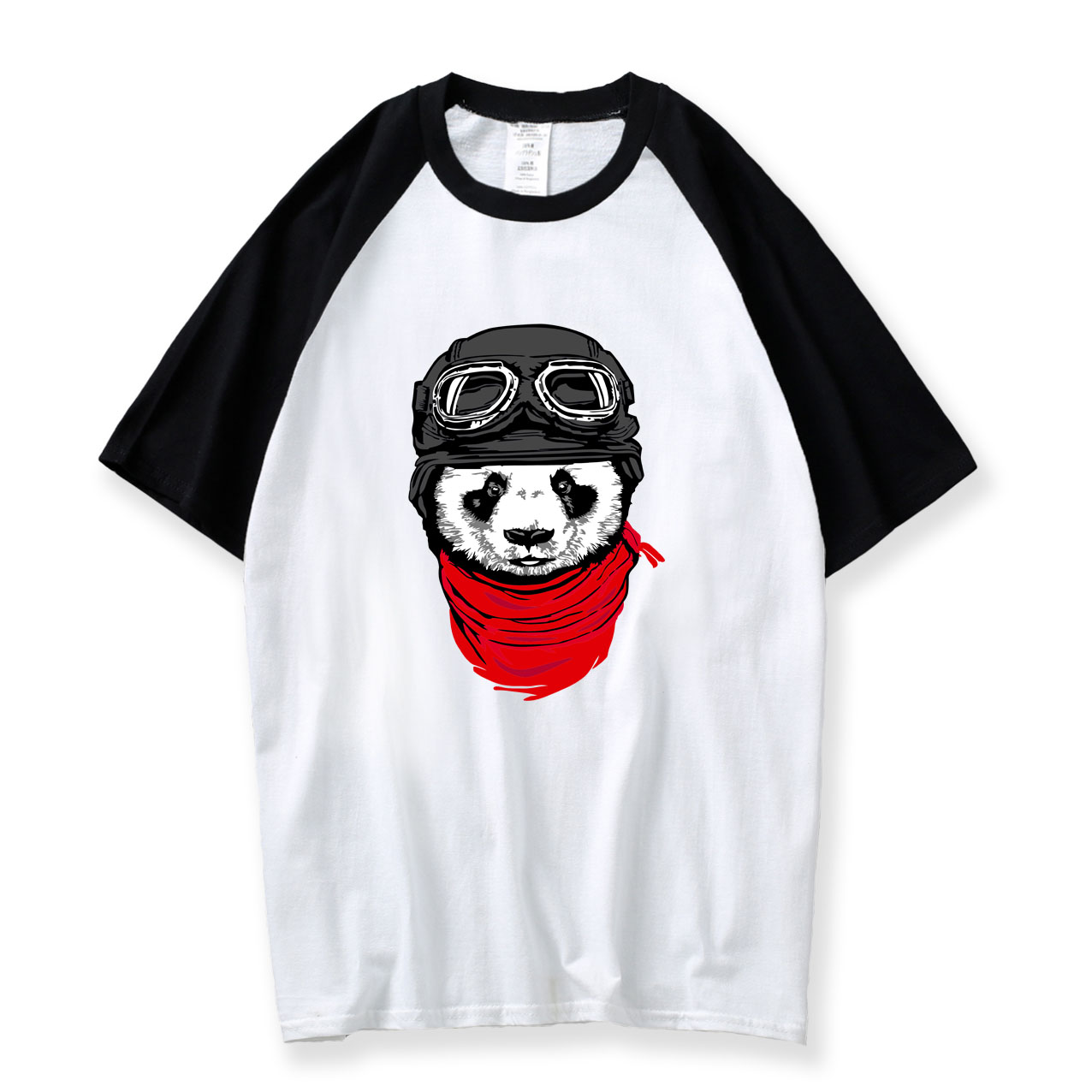 Japanese 2018 New Summer Cute Panda T-shirt Men's Fashion Raglan Sleeve T shirt Harajuku Funny Men Tee Shirts Hipster Cool Top