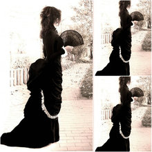 sc-092 Victorian Gothic/Vintage Dress Halloween Theater Movie dresses with puff sleeve Sz US 6-26 XS-6XL