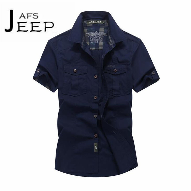 JI PU Short Sleeve Mans Casual Cotton Shirt,short sleeves slim fit button down collar loose Cardigan shirts,military camisa