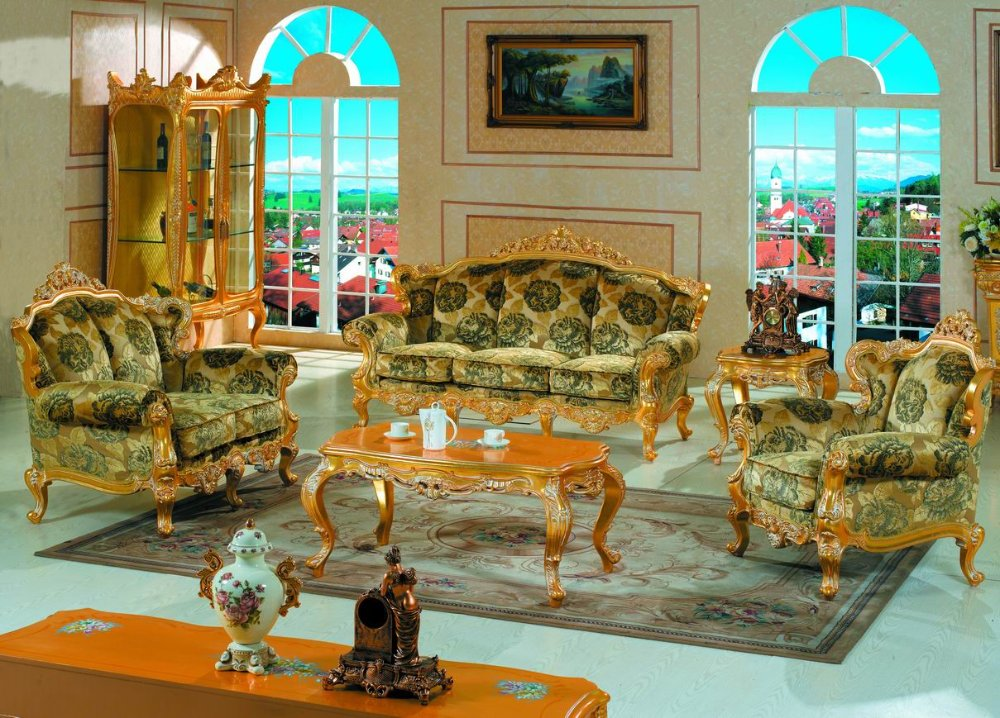 Shop Queen Anne Desk Chair Set Free Shipping Today >> Classic Furniture Baroque Style Living Room Sofa Set Free