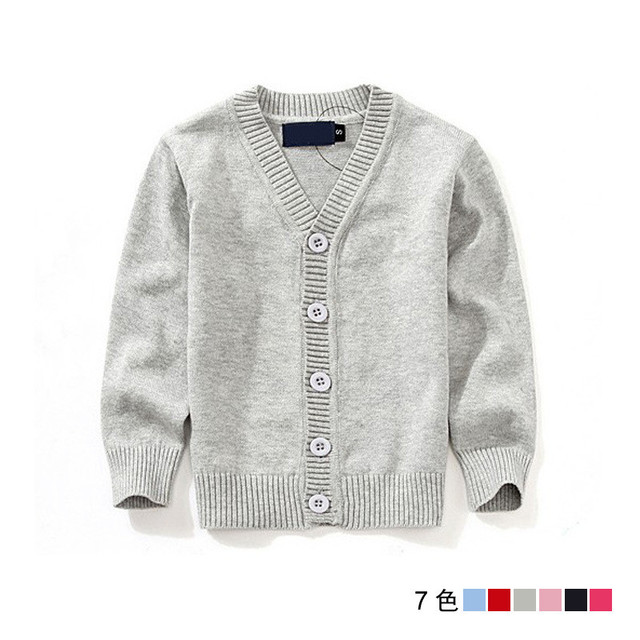 Fashion Brand Sweaters Kids Cardigan high Quality Casual V-neck Boys And Girls Sweater knitted 1-7 years Children'S Sweater