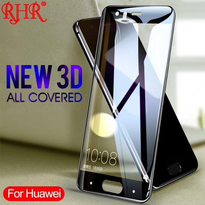 RHR 3D полный изогнутые закаленное Стекло для huawei P9 P10 P20 плюс Lite Экран Защитная пленка для huawei P9 P10 p20 PRO крышка Стекло