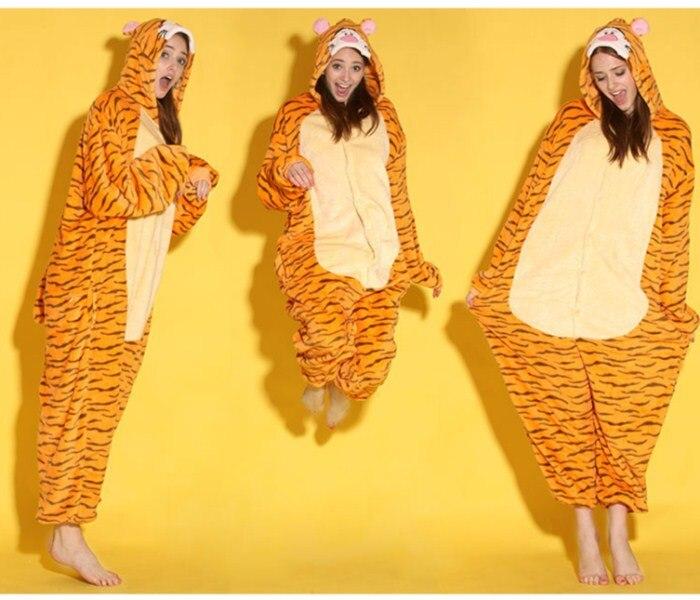도매 만화 동물 점프 Ongie Onesie Pajamas Jumpsuit Hoodies 할로윈을위한 성인 잠옷