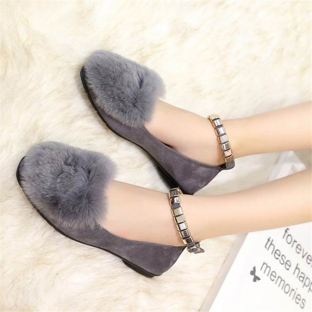 Lady EUR 35-40 casual artificial fur top rivet strap shoes free shipping ballet basic colorful loafers women's ballerina flats
