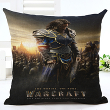 WOW Warcrafted movie Llane Wrynn Lothar Khadgar The ALLIANCE Throw Pillow Case Home Sofa  Backrest Decoration Cushion Cover 3D