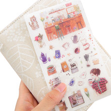 6pcs/lot Exquisite Life Creative Decoration Notebook Hands DIY Albums Scrapbooking Diary students PVC Stationery Sticker(China)