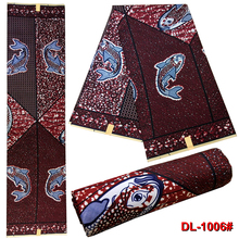 LIULANZHI 100%Polyester 6yards African wax Fabric  6 yards/piece for bag clothes ML13L348-356