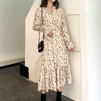 26cf45e16d1ffeb Product Offer. Летнее осеннее платье с принтом повседневное милое женское  цветочное длинное ...