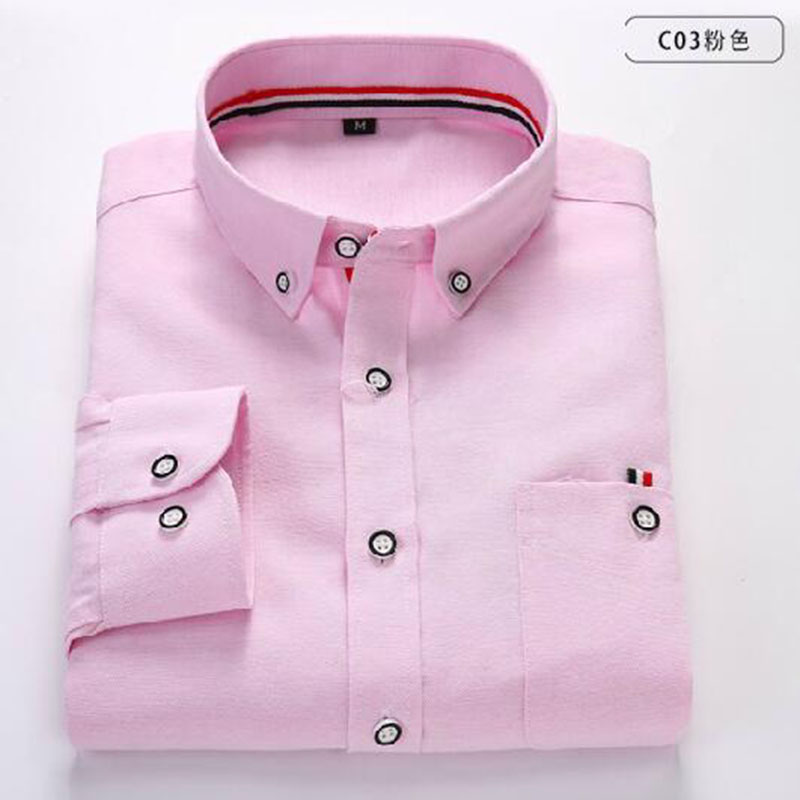 High Street Men Long Sleeve Buttons Design Shirts Pure Cotton Oxford Casual Slim Fit Korean Shirts Camisa Chemise Size M 4XL in Casual Shirts from Men 39 s Clothing