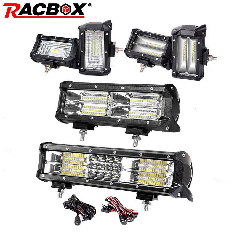 5 10 12 pouce Led Lumière Bar 72 w 144 w 180 w Flood Spot led lumière 12 24 v voiture Camion 4WD Hors Route ATV Bateau LED Conduite Lampe de Travail Supplémentaire