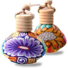 1 шт. цветочный художественный Печатный подвесной автомобильный освежитель воздуха Духи диффузор освежитель воздуха-бутылочка Fe6