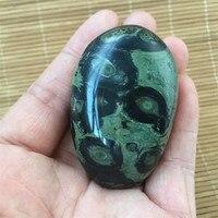 Cura natural da aura do cristal de quartzo mineral do olho da malaquita