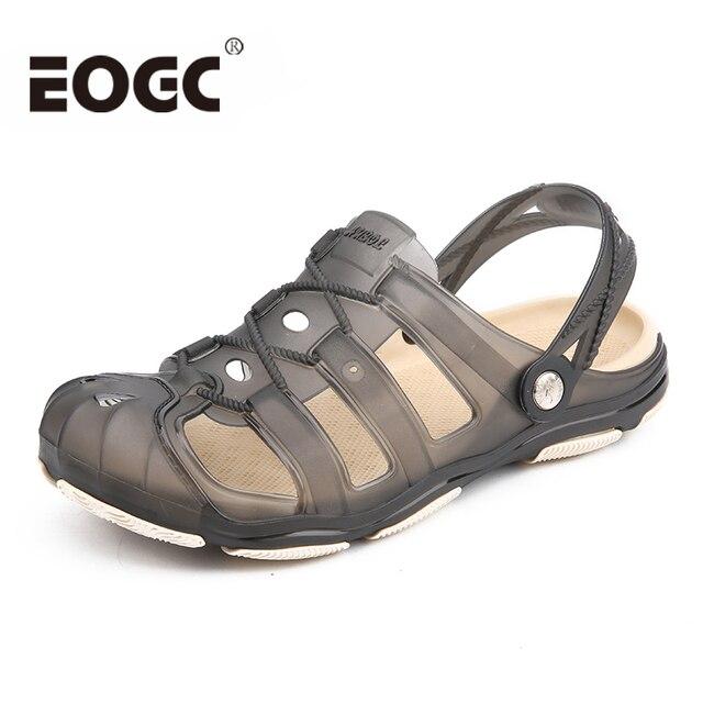 サイズ 40-45 男性ビーチサンダルファッションゼリーの靴通気性中空スリッパ屋外夏の靴男性ドロップシッピング