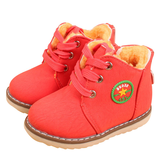 2017 New Fashion Children Cotton Shoes Martin Boots Autumn Winter Boys Girls Keep Warm Boots 3 Color YY0524