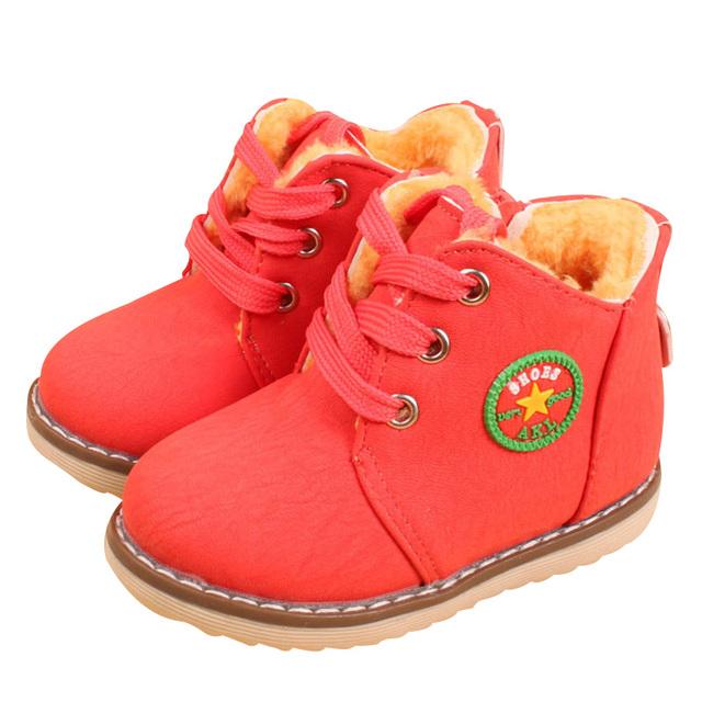 2017 nuevos niños de la manera algodón shoes martin botas otoño invierno niñas mantener botas calientes 3 colores yy0524
