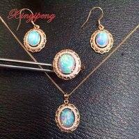 925 серебро 100% натуральные ювелирные украшения с опалом набор MS ушной крючок кольцо ожерелье кулон свадебные украшения
