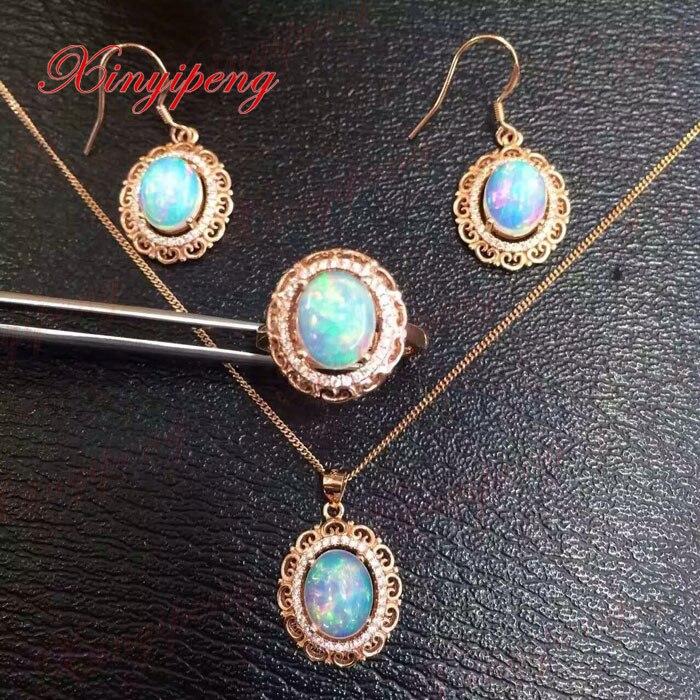 925 argent 100% opale naturelle bijoux ensemble ms oreille crochet anneau collier pendentif bijoux de mariage