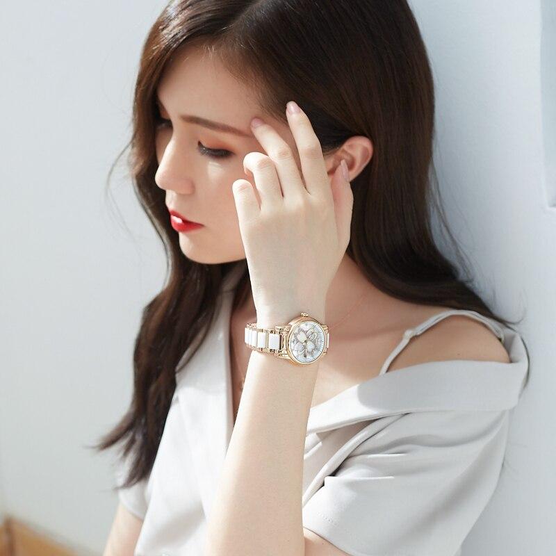 Nesun mode créative élégante marque femmes montres-bracelets étanche diamant analogique montres à Quartz dames femme Relogio Feminino