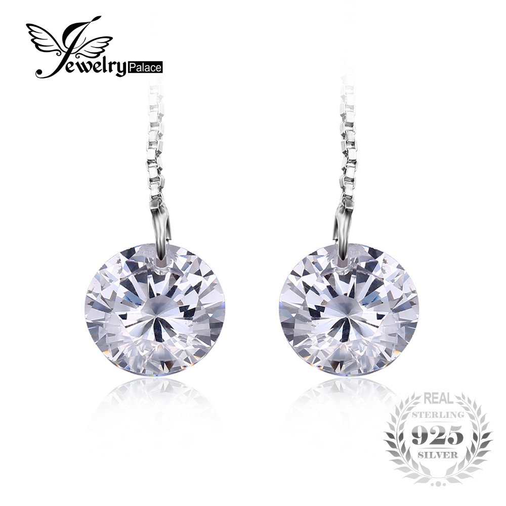 JewelryPalace Round Fashion 8mm 5 0ct Linked Earrings Genuine 925 Sterling Silver 2016 new For Women