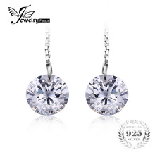 JewelryPalace Round Fashion 8mm 5.0ct Linked Earrings Genuine 925 Sterling Silver 2016 new For Women Fine Jewelry