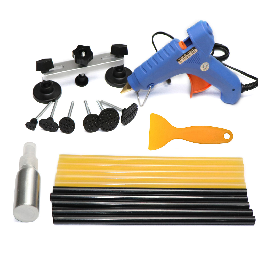 PDR Tools For Dent Removal Paintless Dent Repair Tool Straighten The Dents Pulling Bridge Glue Gun Glue Sticks Tools Kit pdr toolkit auto repair tool to remove dents car body repair paintless dent repair pulling bridge 12 v glue gun
