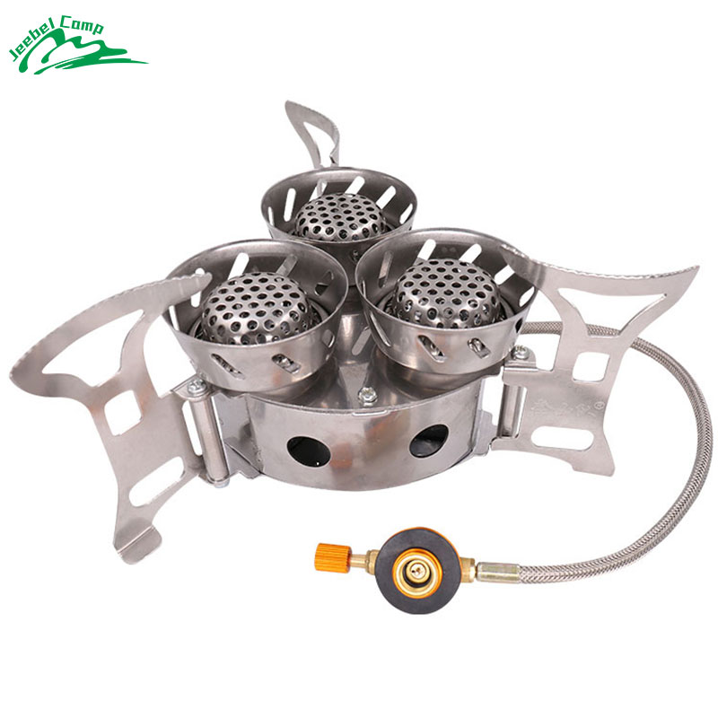 Gas Burners 11000W Super Power Stove Outdoor Camping Cooking Windproof Butane Burners Portable Heater Furnace Gas
