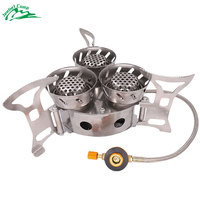 Gas Burners 11000W Super Power Stove Outdoor Camping Cooking Windproof Butane Burners Portable Heater Furnace Gas Stove