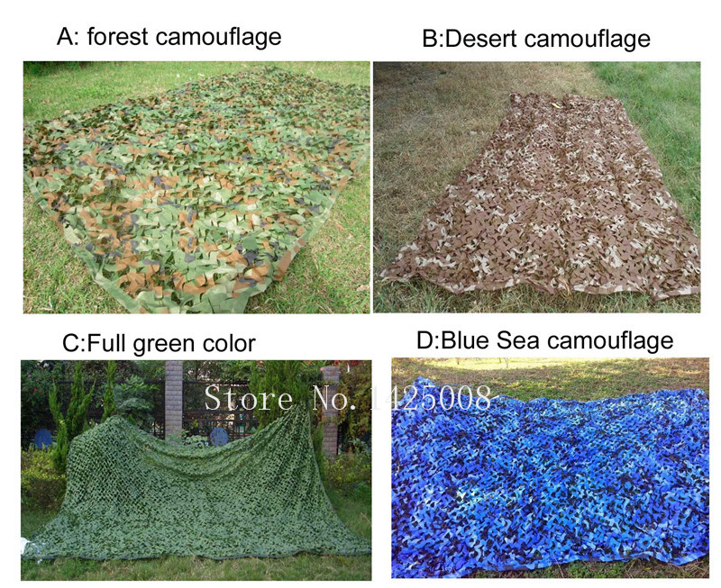 3 3M four colors Camouflage net Camo Blinds Net Cover For Army Military Hunting Camping Military