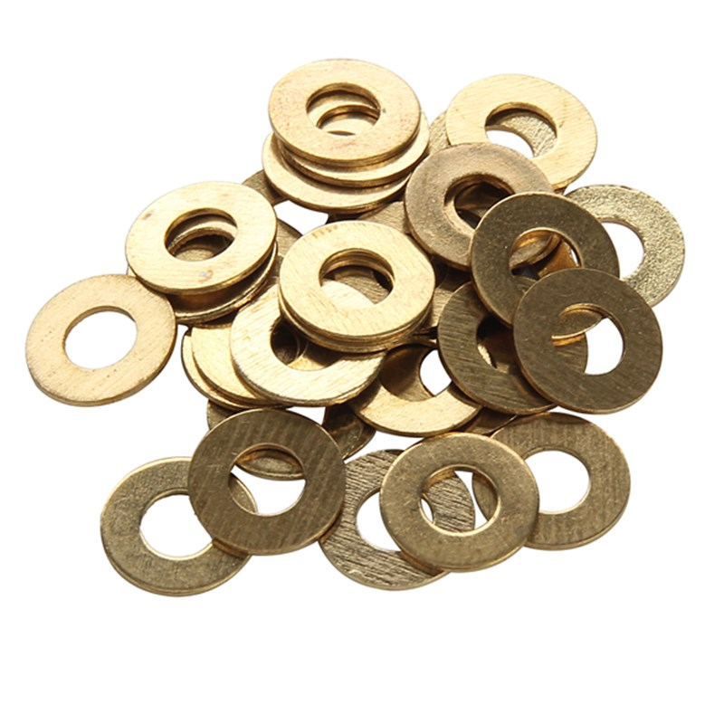 High Quality 10pcs/bag Brass Flat Washers for M4 Screws Parts of Tattoo Machine Wholesale