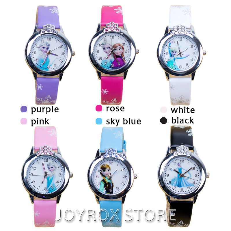 JOYROX Hot Princess Elsa Mønster Barn Watch Mote Crystal Cartoon - Barneklokker - Bilde 5
