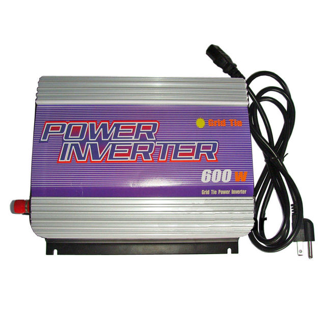 600W On Grid Solar Power System Inverter,10.8-30V/22-60V DC input,Low cost and easy installation,Free combination